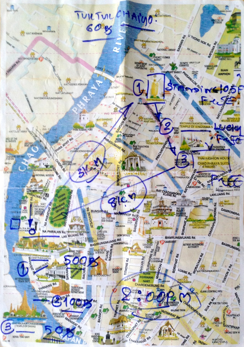 Bangkok Karte.Bangkok Urlaub Tipps Sehenswürdigkeiten