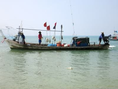 Fischerboote in Thailand