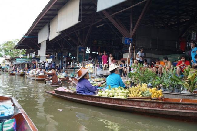 Floating Market (schwimmende Märkte) in Damnoen Saduak