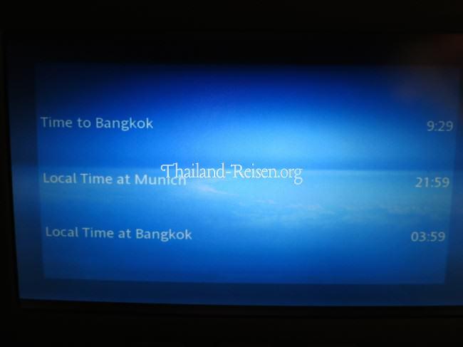 Zeitverschiebung und Flugdauer von München (MUC) nach Bangkok (BKK)