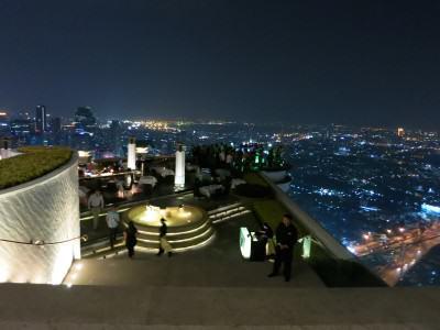 Blick von der Lebua Skybar in Bangkok