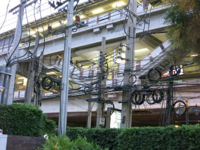 Stromleitungen in Bangkok