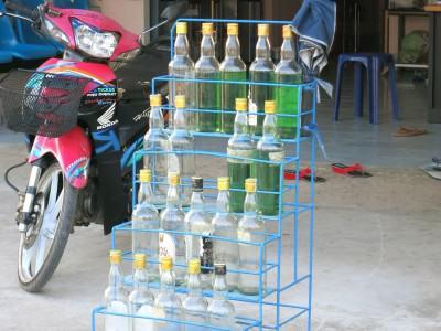 Tankstelle für Scooter-Roller in Thailand
