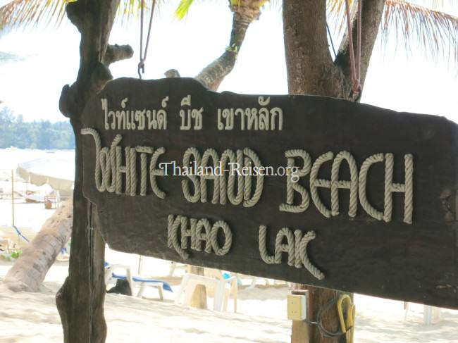 White Sand Beach in Khao Lak